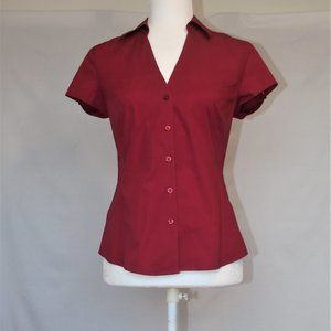 Cranberry fitted short sleeve shirt